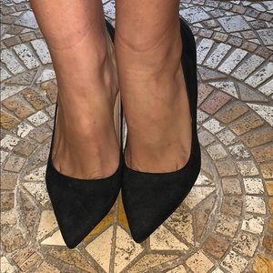 Suede Classic Black Pumps High Heels 8.5
